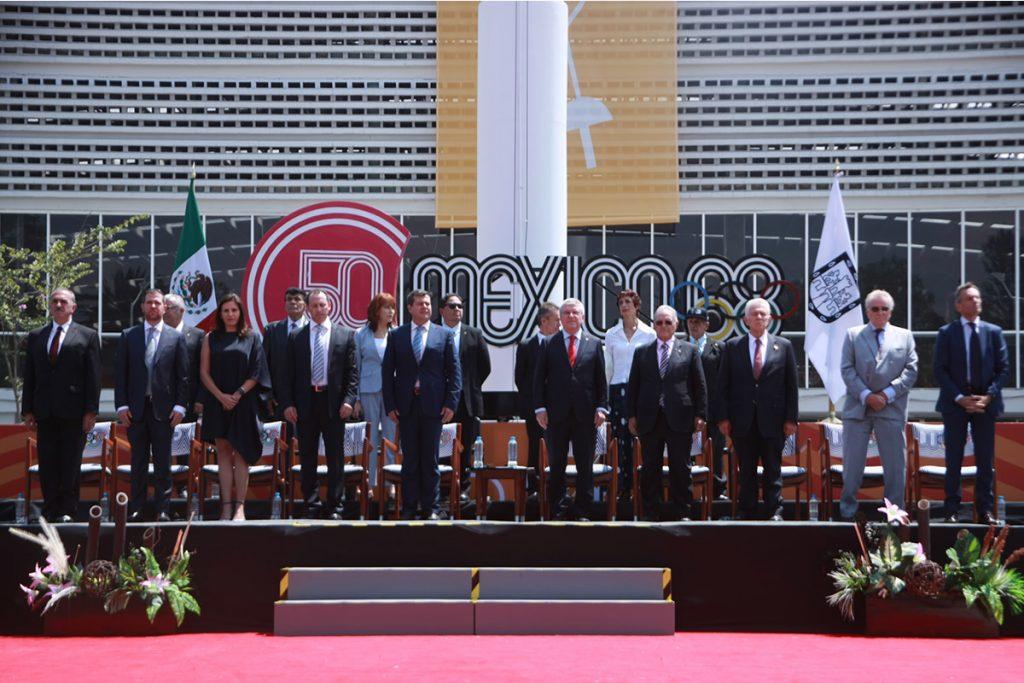 Thomas Bach en México por el 50 aniversario de los Juegos Olímpicos
